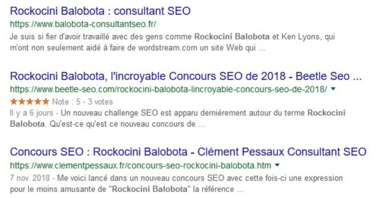 Concours SEO : Rockocini Balobota 3